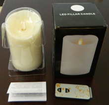 Flame moving wick candle light luminara flame pillar candles electronic led night light safe to use any where