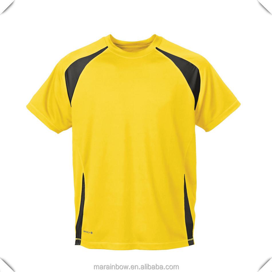 Good quality black t shirt - Neon Yellow High Quality Men S Polyester Eye Bird Bird Eyelet Material Performance Sports T Shirt