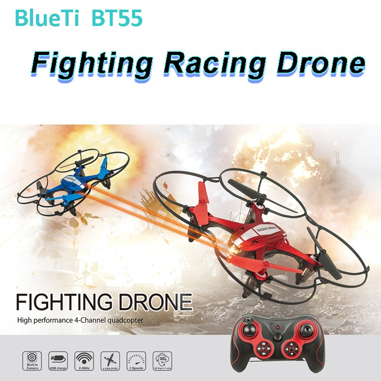 China Shantou Newest Battle RC fighting drone quadcopter BT55 racing drone