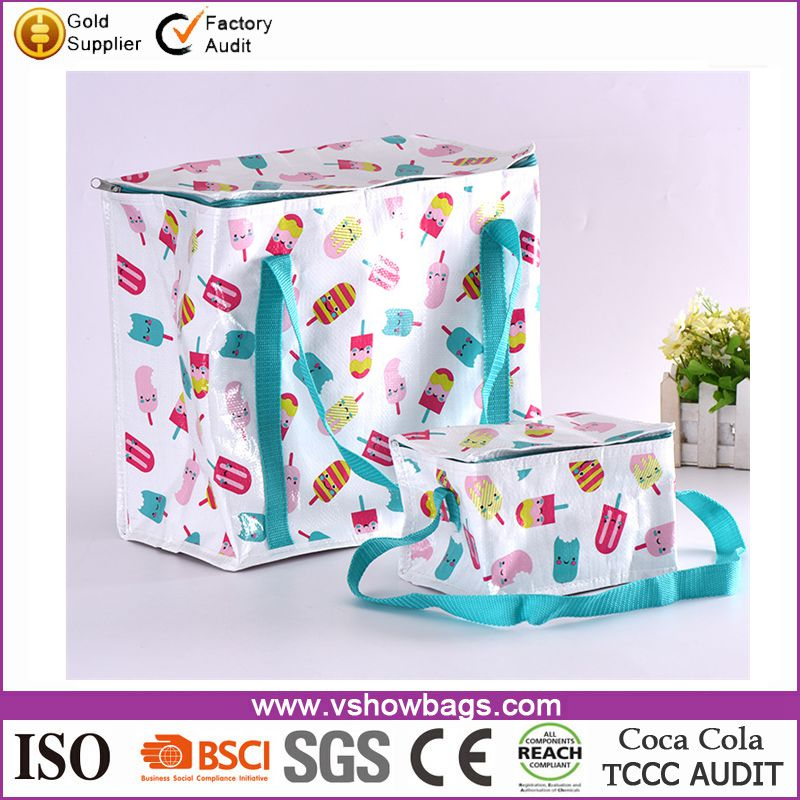 Hot selling portable cooler bag outdoor woven picnic bag for girls