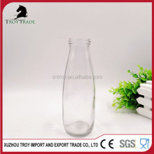 500ml round glass milk/juice bottle with metal lid twist off lug cap