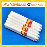 plain paraffin wax white candle/white taper candle