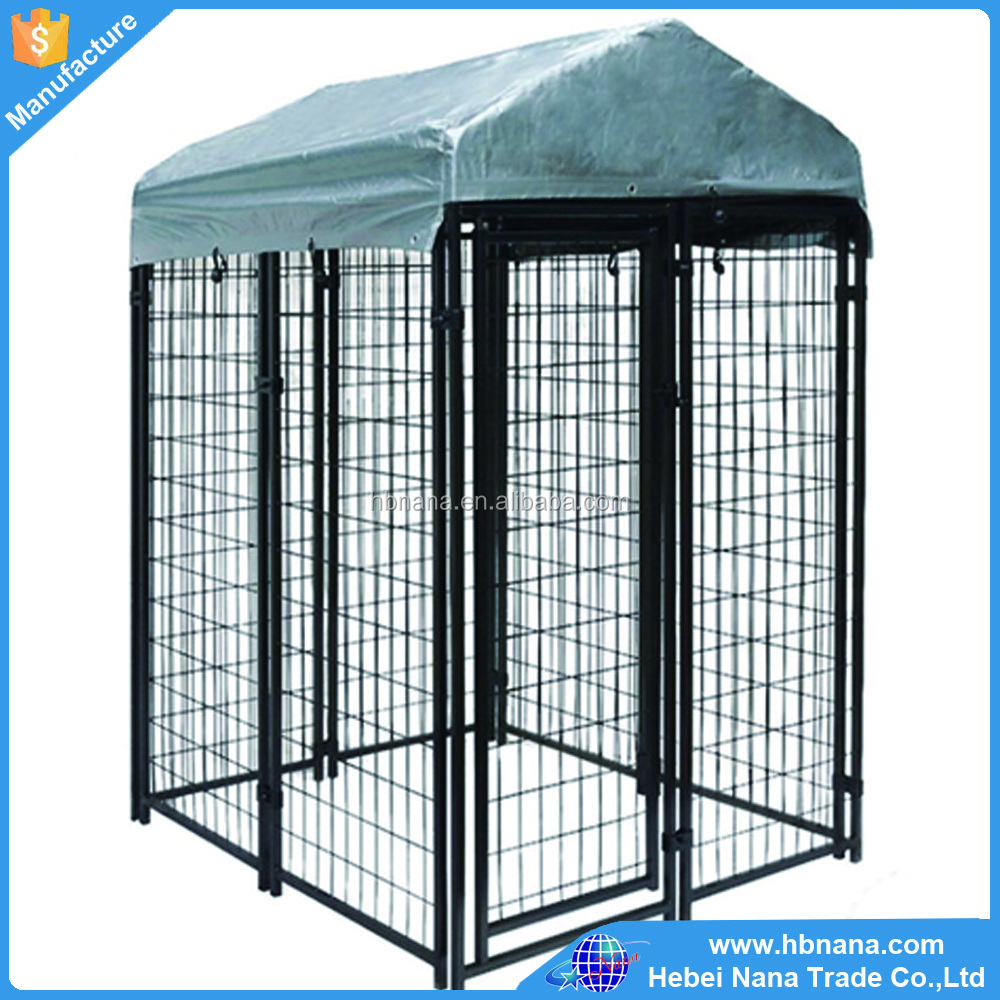 Chain link fence dog kennel buildings / welded wire mesh dog kennel with lock