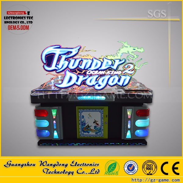 Arcade Fishing Game Machine 8 Player thunder dragon/ Ocean sing 2 Plus Fishing Games