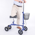 Foldable knee walker scooter with basket
