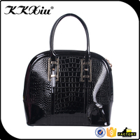 Jing pin seashell leather scallop edge handdles handbag