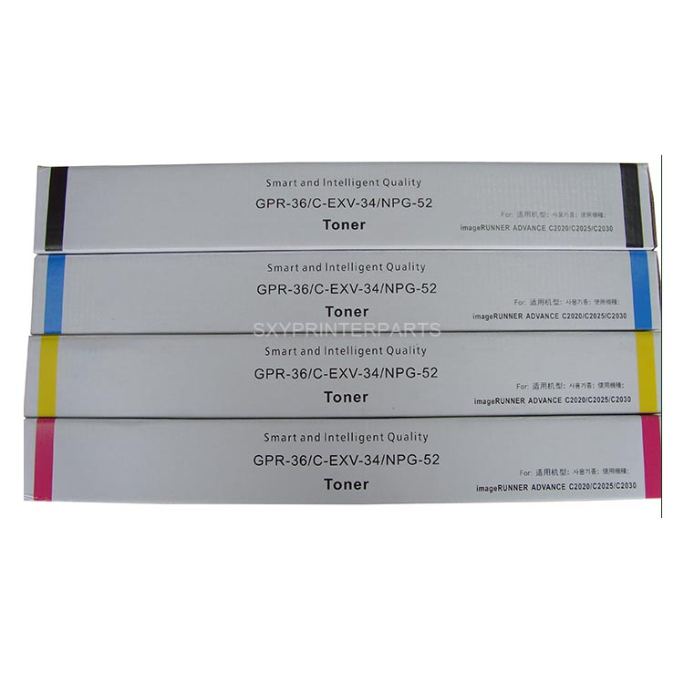 Compatible toner cartridge GPR-36 NPG-52 C-EXV34 for Canon Copier IR C2020/2025/2030/2220/2225/2230 Used for Canon ir Copier