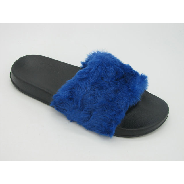 Beautiful good quality most comfortable flat fur slide sandal for girls