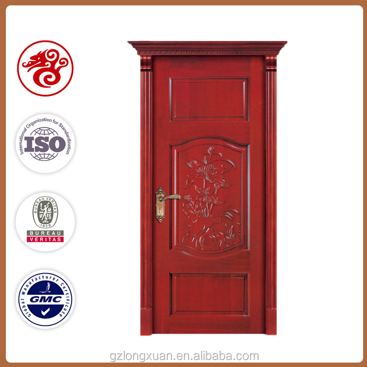 2016 environmental modern design rose natural veneer multi panels flower wood carving door photos in china