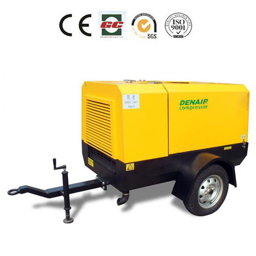 mobile Cummins engine portable air compressor for drilling