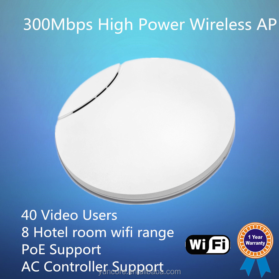 OEM & OPENWRT 300Mbps high power Long Range Wireless Access Point with 40 Video Users, PoE support, AC Controller Support