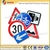 General Aluminum Reflective cheap safety triangle traffic road sign