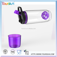 Plastic empty sport water bottle bpa free