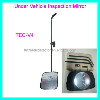 21-inch Mirror Under Vehicle Bomb Detector,Bomb Search Mirror TEC-V4 with LED Lights