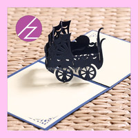 new design baby shower celebration 3d meeting invitation card 3D-28