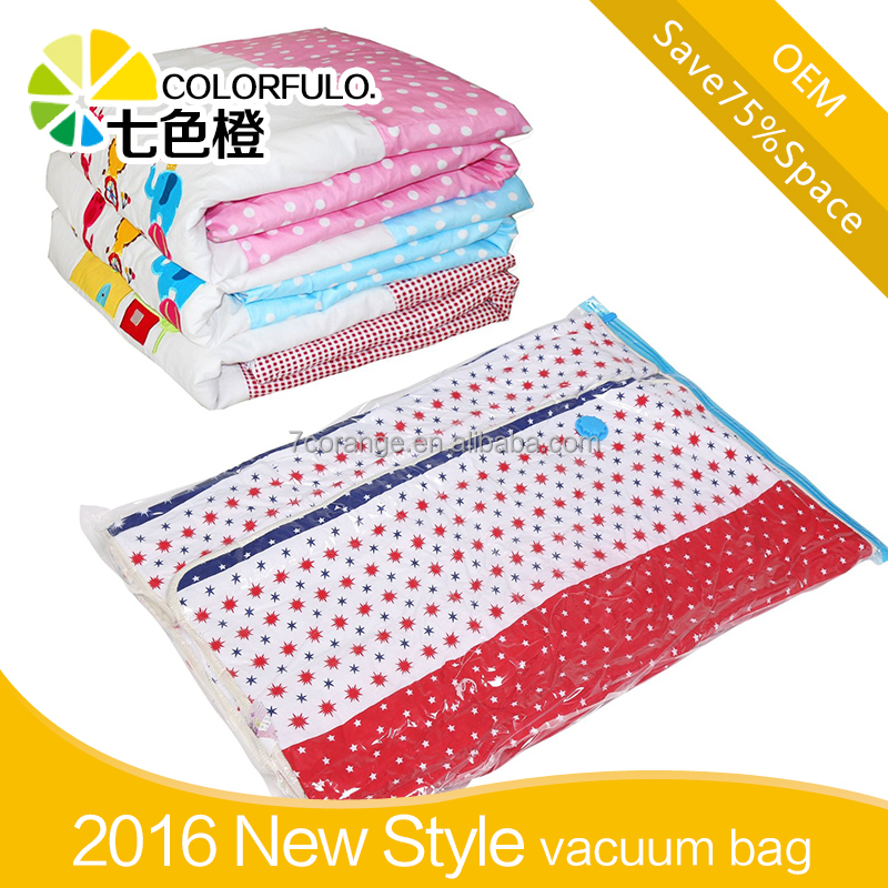 Clothing Use and PE Plastic Type bedding vacuum storage bag