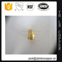 "B431 1/2"" thread metal copper transition auto air conditioning parts ferrule threaded pipe nipple"