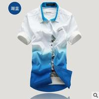 D60003K FASHION SUMMER FADE COLOR MAN'S T-SHIRT