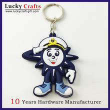 High quality new design promotion cartoon rubber pvc key chain