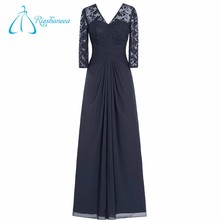 V-Neck Chiffon High Quality OEM Service Mother of the Bride Lace Dress