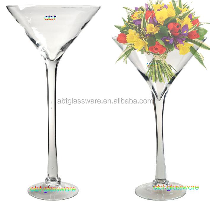 pas cher populaire grand martini vase en verre pour le. Black Bedroom Furniture Sets. Home Design Ideas