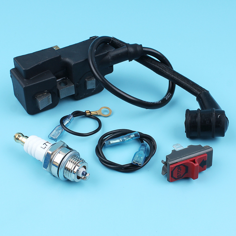 Ignition Coil Stop Kill Switch Spark Plug Kit For Husqvarna 365 362 ...