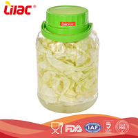 wholesale custom Kitchenware Food grade Storage pickle jar borosilicate large glass jar