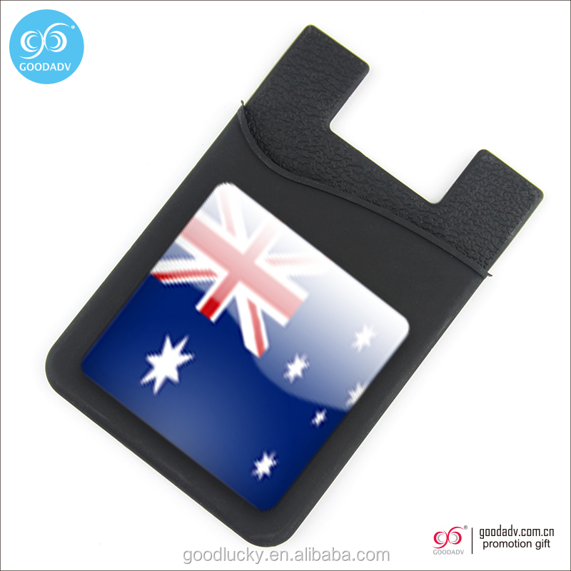 Sticky card holder/ cell phone silicone card holder