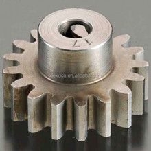 Custom aluminum pinion gear pinion spur gear for automobile and motorcycle