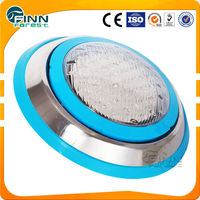 12V/9W IP68 Waterproof LED Swimming Pool Underwater Light with Stainless Steel Face Ring