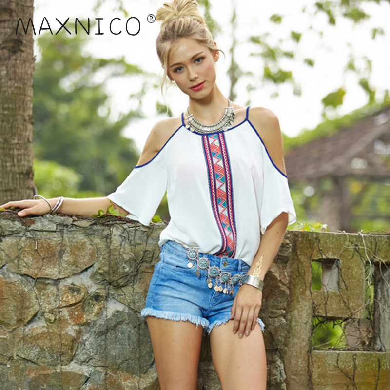 Maxnegio ladies chiffon tops many new model neck blouses off shoulder top women