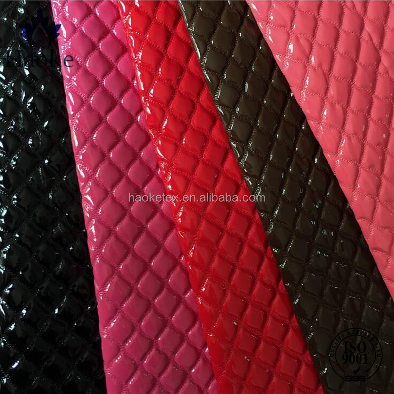 quilted faux leather fabric for fashion women's handbag