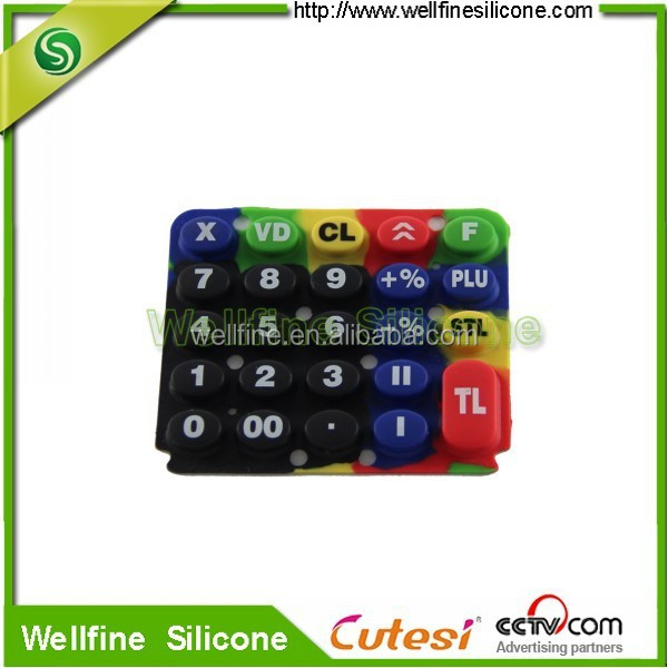 Customize silicone handphone keypad OEM supplier