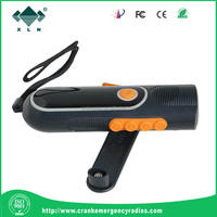 Hot Sale 3LED Flashlight Power by Hand Crank MP3 Player Solar Portable Radio with Mobile Phone Charger