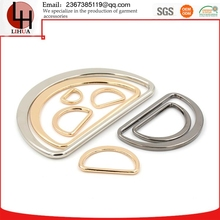 Metal D shaped zinc Alloy plating Luggage and bags buckle decorative hook garment accessories producer