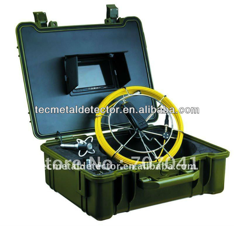 30m cable TEC-Z710 video pipe inspection camera, water pipe inspection camera with 23mm stainless steel camera