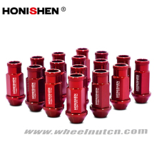 HONISHEN Forged Aluminum 7075-T6 Racing Wheel Lug Nuts with Open and Close End
