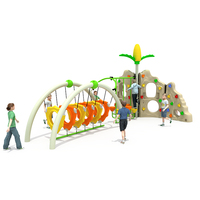 Hot sale kids outdoor playground equipment children kindergarten large toys plastic climbing wall with swing for kids
