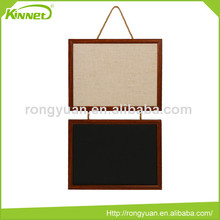 Factory directly selling good quality combo magnetic chalkboard and fabric bulletin board memo writing board