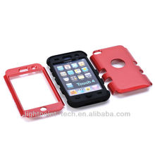 protective case for ipod touch 4 cute case with silicone and pc material