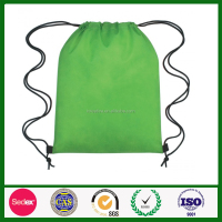 eco friendly Green Kids high quality drawstring pp non woven bags