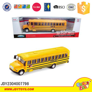 Alloy model bus 1:32 scale metal school bus yellow pull back bus toy