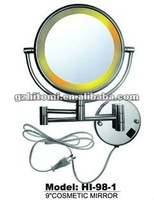 wall mounted lighted makeup mirror HI-98-1