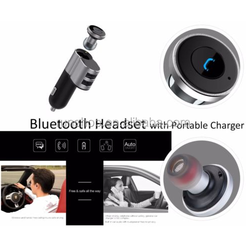 2016 New Product <strong>Q10</strong> 2 in 1 Car Charger And Bluetooth Headset New Mini Earphone