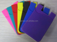 Hot sale Silicone 3m sticker phone case card holder