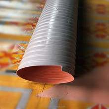 Silicone heat resistant flexible reinforced duct