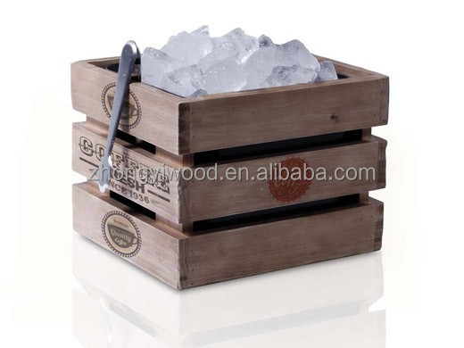FSC factory unique wooden storage crate collapsible storage crate