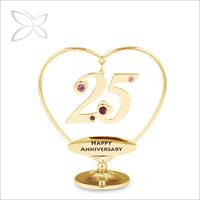 Wholesale Unique Gold Plated Crystals Wedding Anniversary Gift