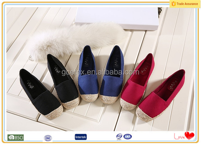 All kinds color espadrilles ladies summer american loafer shoes