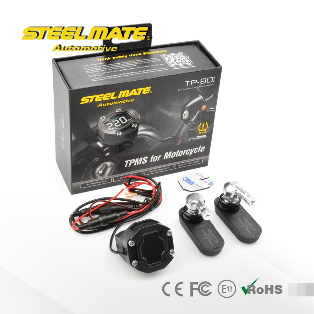 Steelmate TP-90I Wireless Tire Pressure Monitoring System TPMS for motorcycle with internal sensor